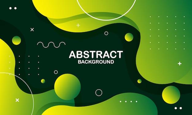 Абстрактный зеленый и желтый цвет фона. композиция динамических фигур