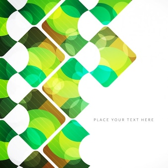 Abstract green background in geometrical style