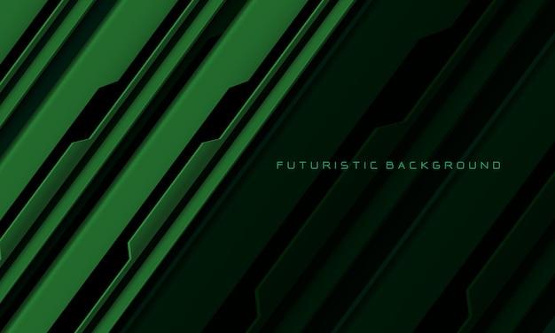 抽象的な緑黒回路サイバー幾何学的ラインスラッシュ現代の未来的な技術の背景