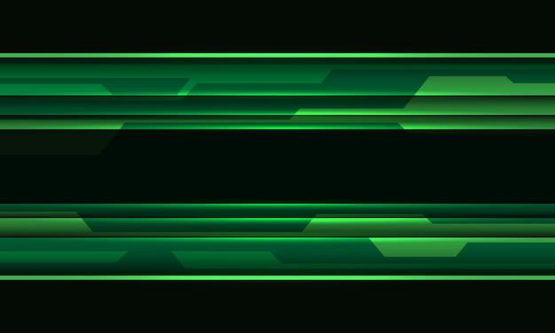 추상 녹색 검은 사이버 회로 기하학적 기술 미래 배경 벡터 일러스트 레이 션.