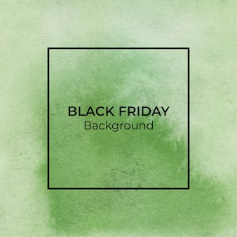 Abstract green blackfriday watercolor texture background