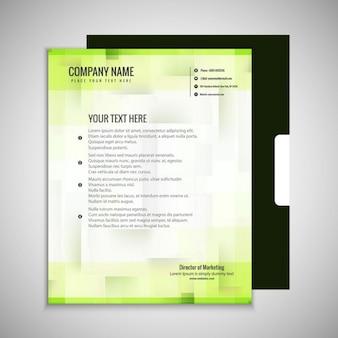 Brochure business verde
