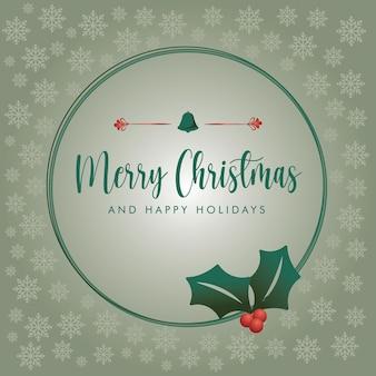 Абстрактная зеленая рождественская почта