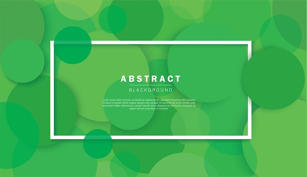 抽象的な緑の円の背景