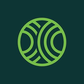 濃い緑色の抽象的な緑色の円