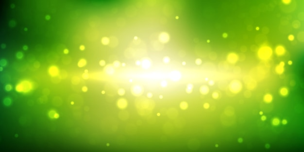 Abstract green color nature bokeh background.
