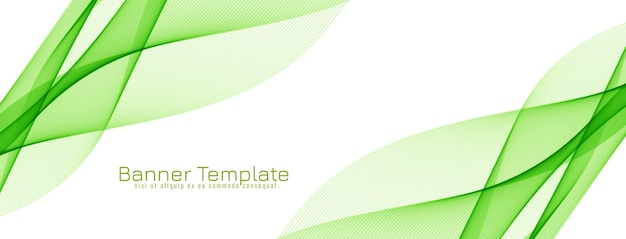 Abstract green color wave desgn banner vector