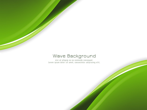 Abstract green color wavy