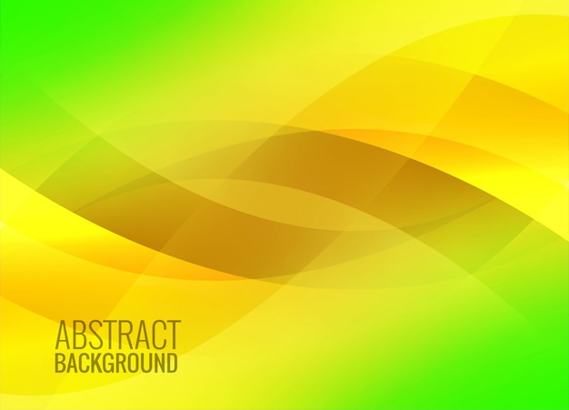 Abstract green colorful wavy background