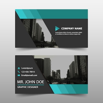 Abstract green commercial business card