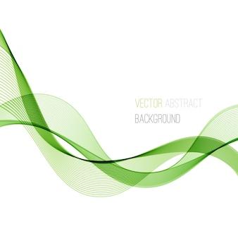 抽象的な緑の曲線の背景。テンプレートパンフレットのデザイン。