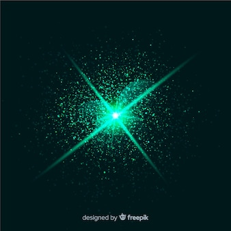 Abstract green explosion particle effect