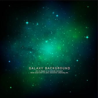 Abstract green galaxy space background