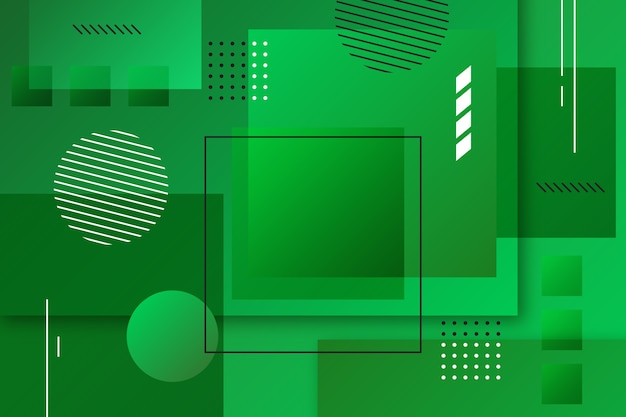 Abstract green geometric background