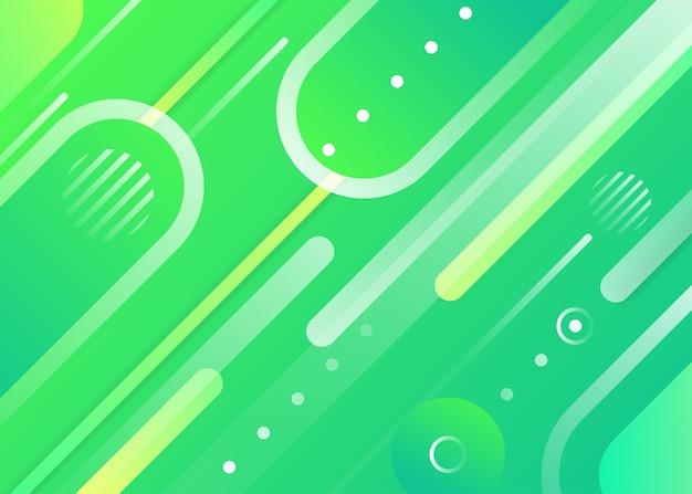 抽象的な緑の幾何学的形状の背景