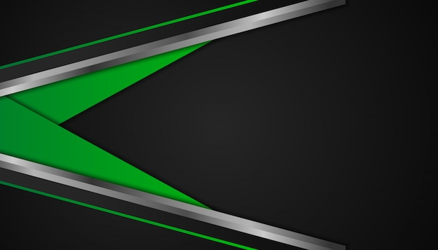 Abstract green geometric shapes on dark background