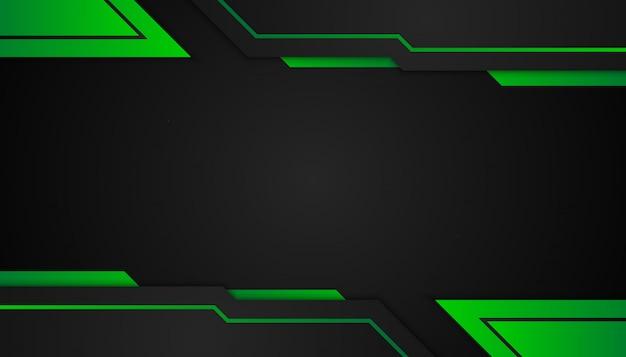 어두운 배경에 추상 녹색 도형