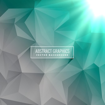 Abstract green geometrical triangle background