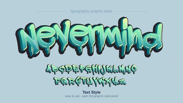 Абстрактный зеленый стиль граффити типографика