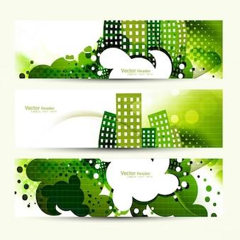 초록 녹색 헤더