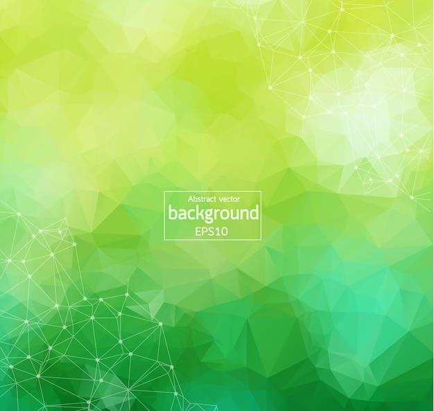 Abstract green light geometric polygonal background