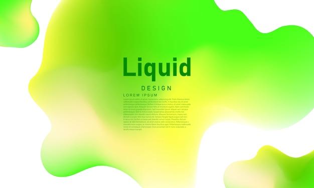 Абстрактный зеленый жидкий градиент фона экология концепция