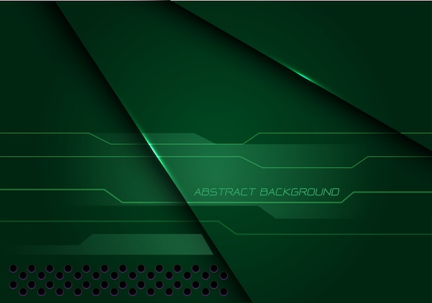 Abstract green metallic overlap cyber  modern futuristic technology background.