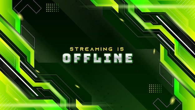 Abstract green modern gaming background for offline twitch stream