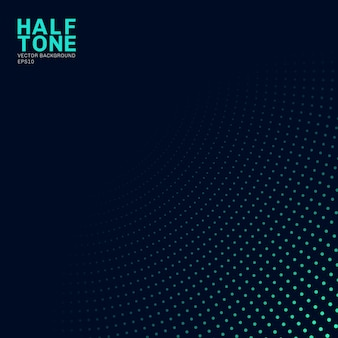 Abstract green neon color halftone background