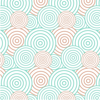 Abstract green and orange circle background - seamless pattern