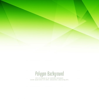 Abstract green polygon design background