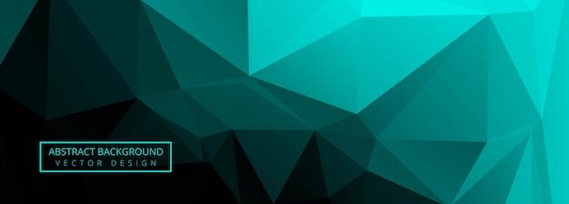 Abstract green polygon