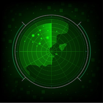 Abstract green radar background