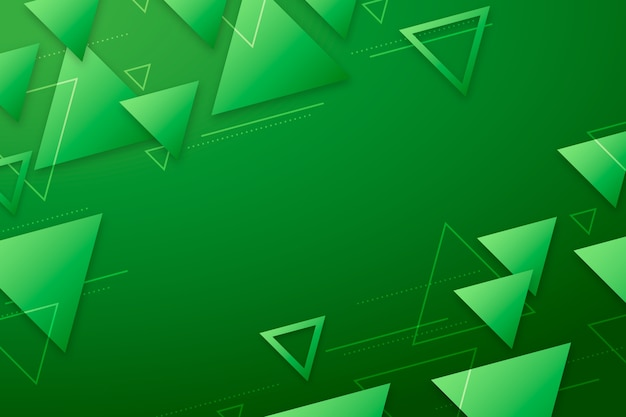 Abstract green shapes on green background