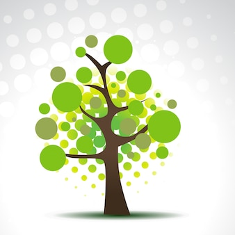 Abstract green tree