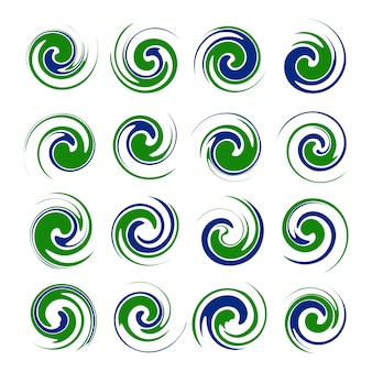 Abstract green twister shape design element