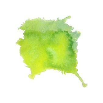 抽象的な緑色の水彩スプラッタ