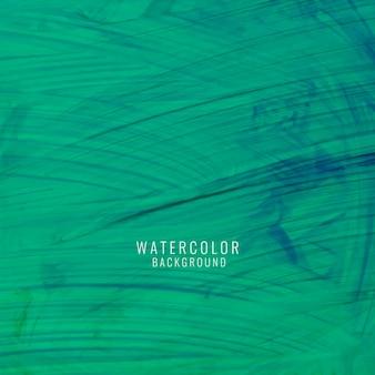 Абстрактный зеленый фон с акварелью