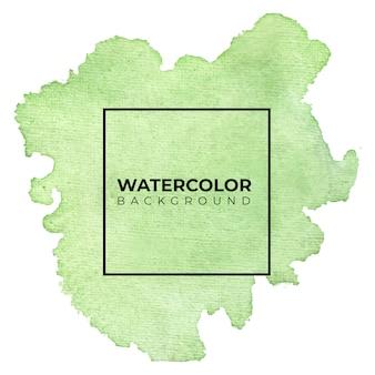 추상 녹색 수채화 배경입니다. 손으로 그린 것입니다.