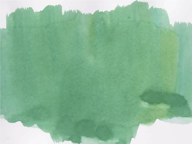 抽象的な緑の水彩画の背景。手描きです。