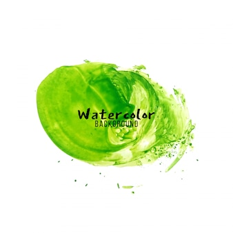 Abstract green watercolor design background