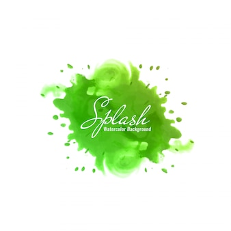 Abstract green watercolor splash design background