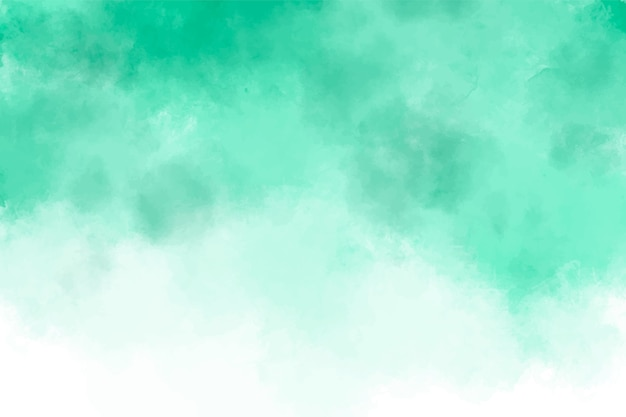 Abstract green watercolor splashing background.