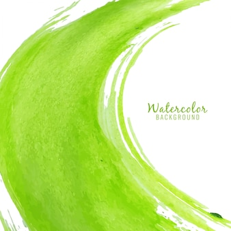 Abstract green watercolor stain background