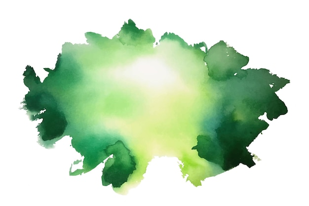 Abstract green watercolor stain texture background