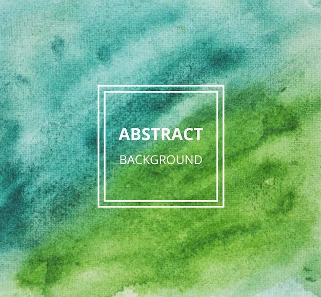 Абстрактная зеленая акварель текстуры фона