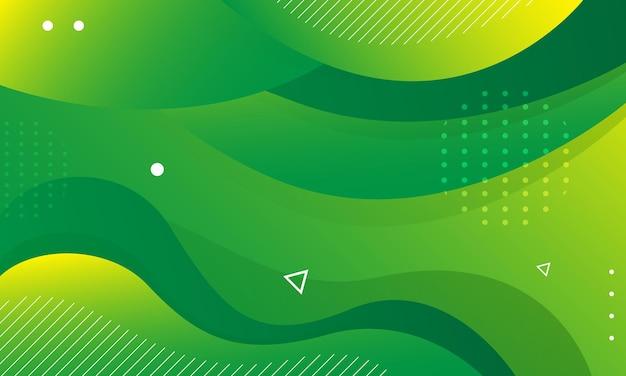 抽象的な緑の波の背景