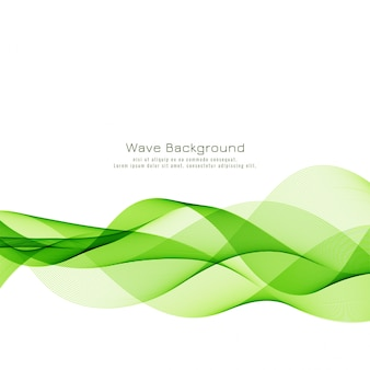 Abstract green wave business background