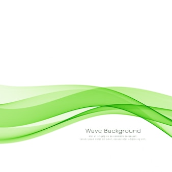 Abstract green wave elegant background