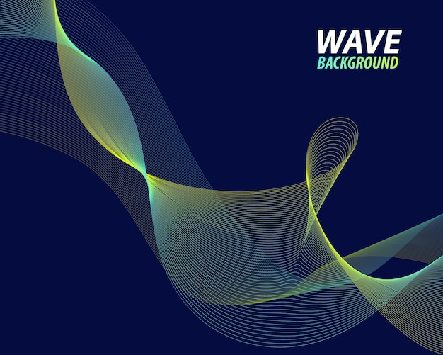 Abstract green wave lines